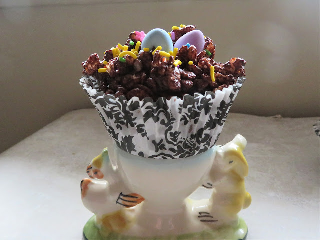 Easter Chocolate Crispie Cakes