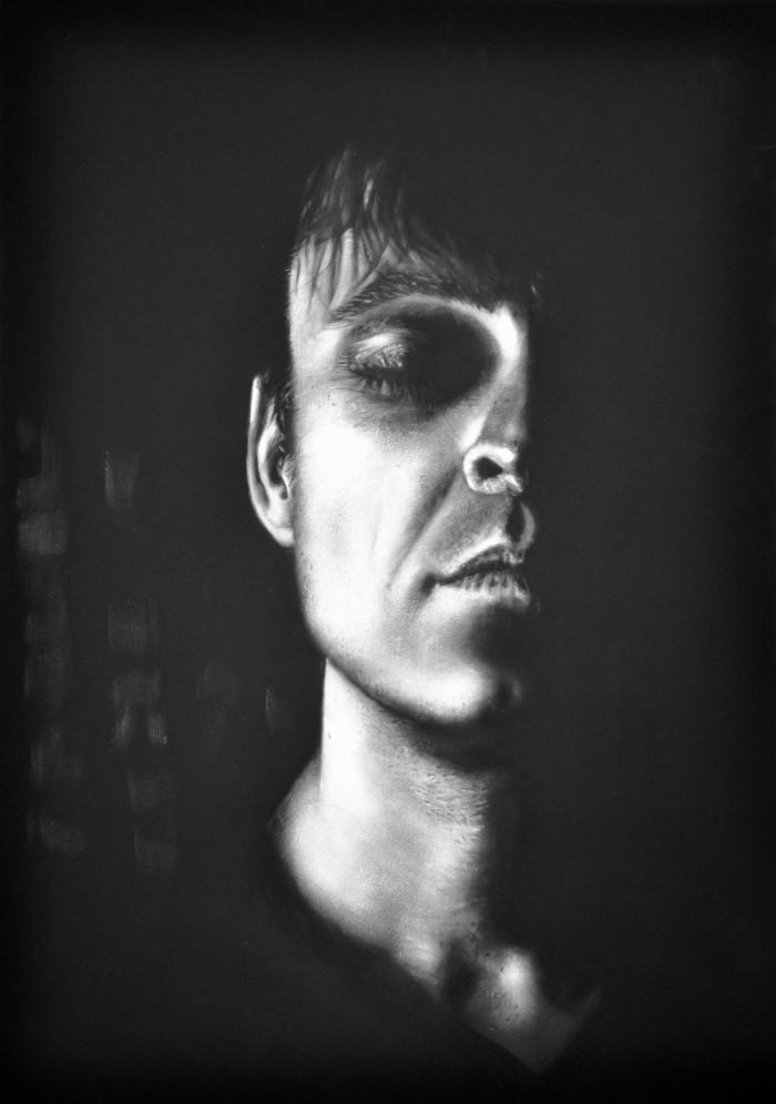 Чёрно-белые картины маслом. Sabine Rudolph