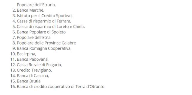 elenco banche italiane in amministrazione controllata