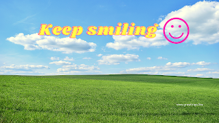 Keep smiling Desktop Wallpaper images with sky and green landbackground