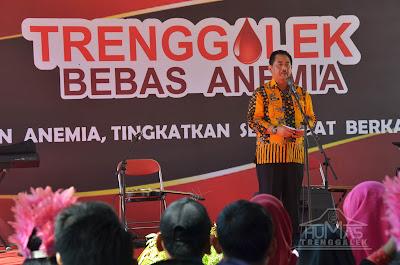 Plt Sekda Drs Kusprigianto, Buka Kegiatan Kampanye Trenggalek Bebas Anemia