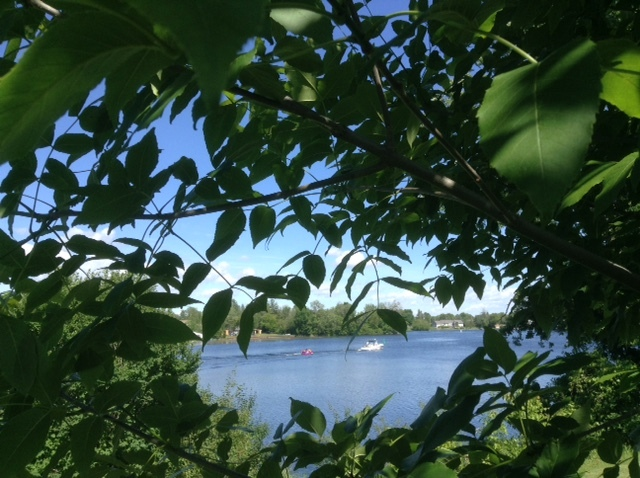 Boaters on the Rideau River