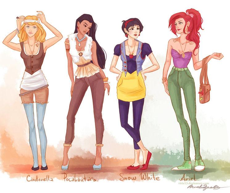 Milena Kawaii Princesas Disney Parte I