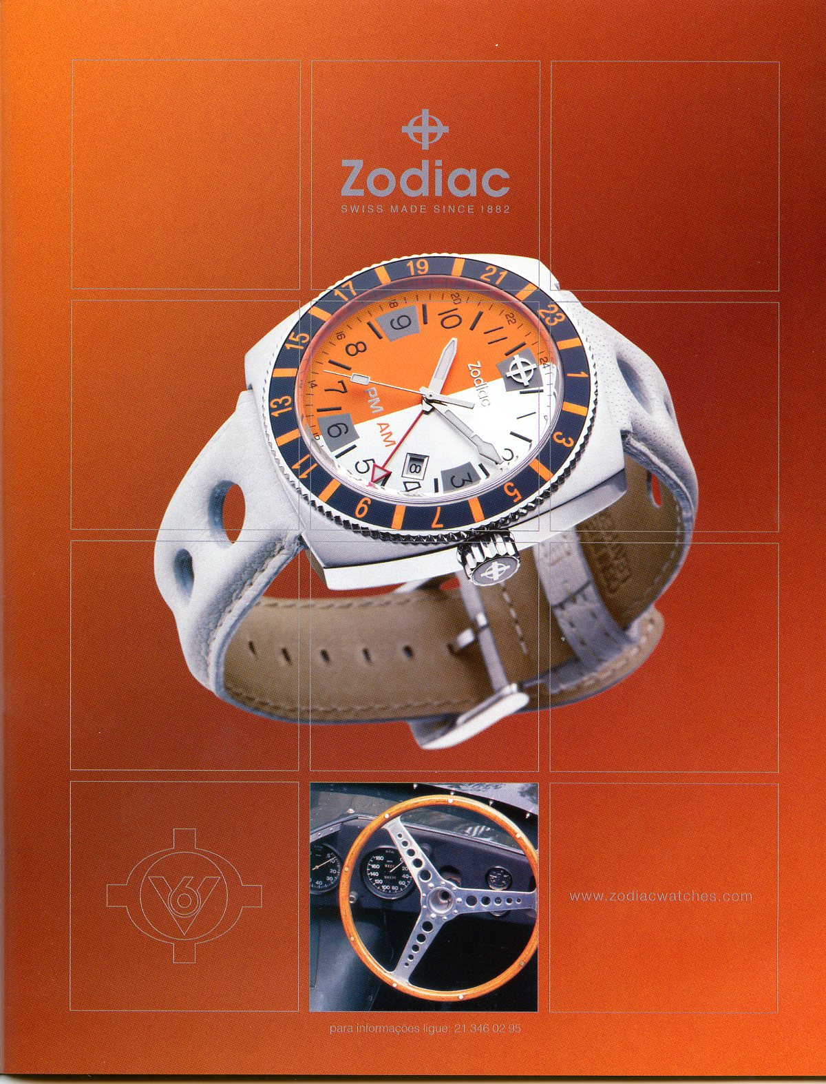 ac41a86a512 Estação Cronográfica  Há 10 anos... publicidade Zodiac