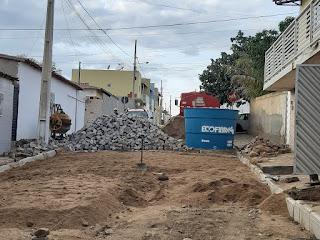 Prefeito Olivânio Remígio dá início a segundo trecho de pavimentação da rua Francisco Mariano (JK)
