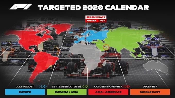 Calendario F1 2020 confirmado