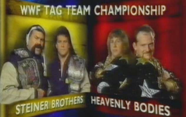 WWF / WWE SUMMERSLAM 1993: Tag Team Championship Match - Steiner Brothers vs. Heavenly Bodies