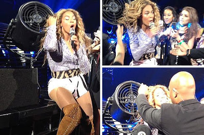 beyonce hair stuck fan montreal canada