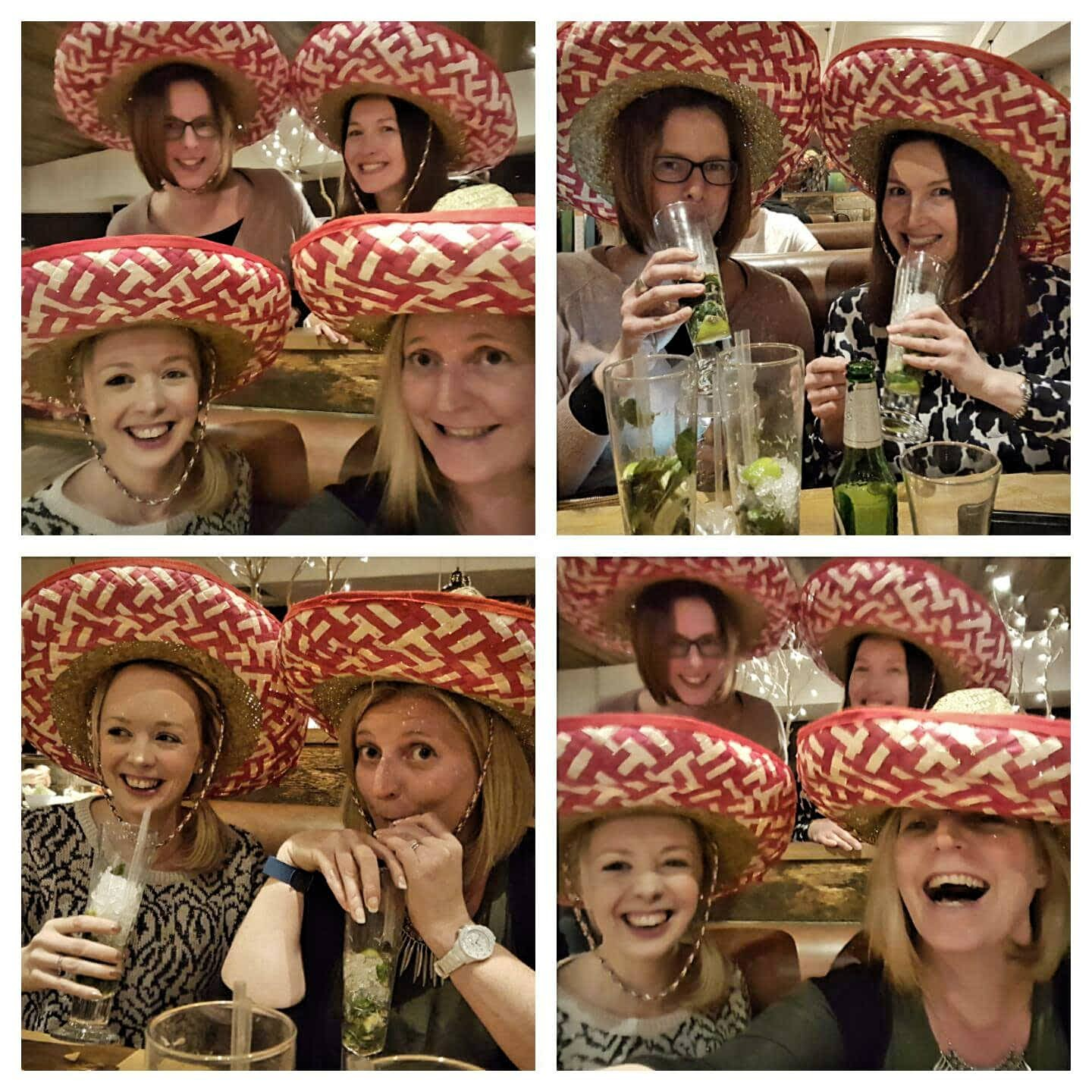 Friends in Mexican Hats