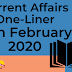 Current Affairs One-Liner: 15th February 2020