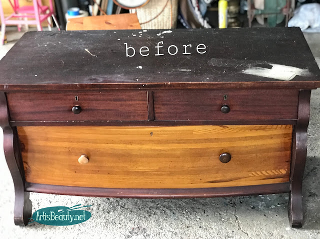 vintage antique buffet server empire style do it yourself before and after makeover