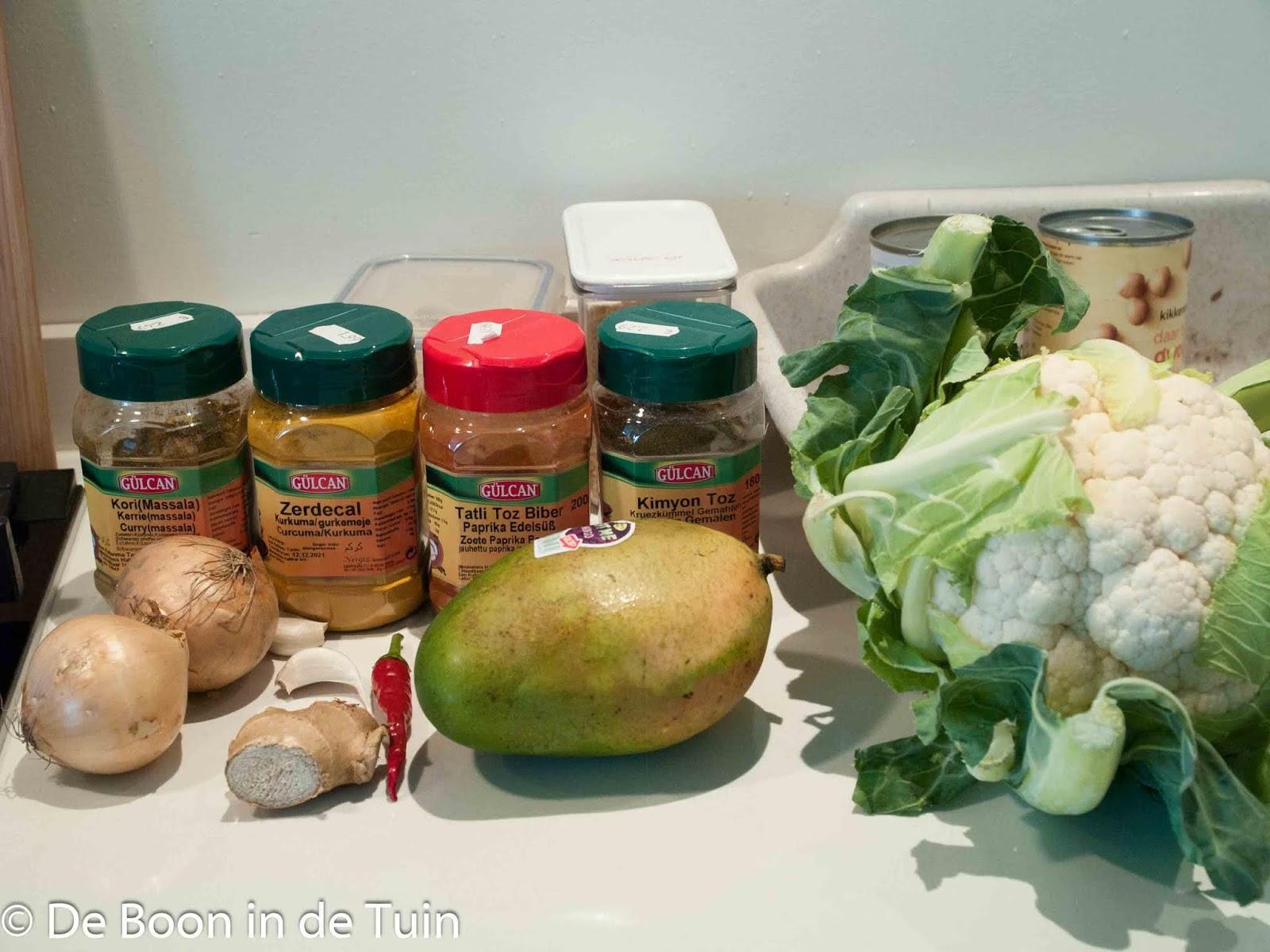 recept bloemkool indiase indian curry