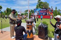 Pemkab Biak Numfor Sambut Kirab Api PON XX Papua