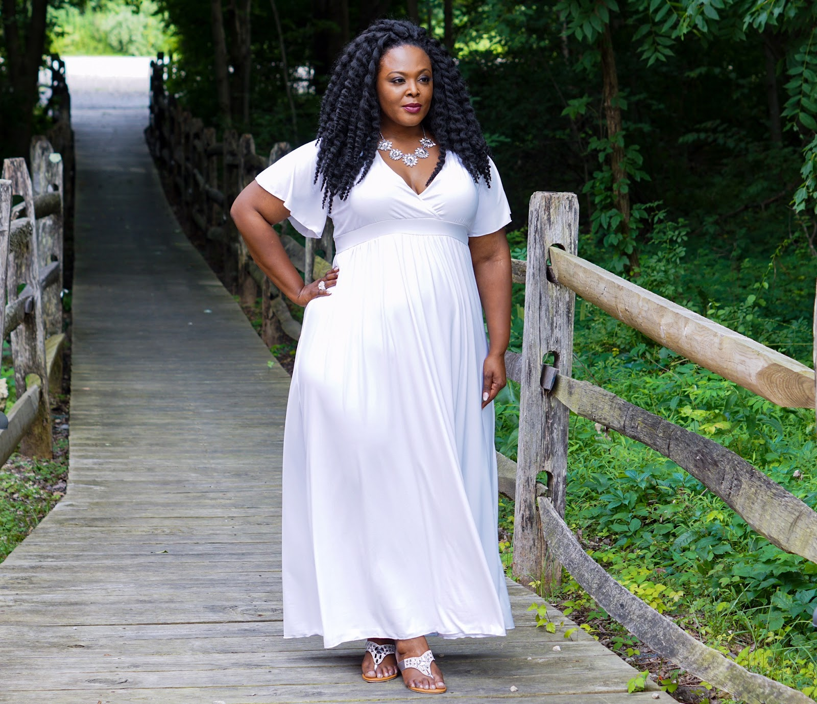white plus size maxidress, white plus size dress, swak designs maxi dress