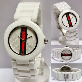 Jam tangan gucci keramik