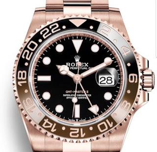 Pajak Rolex GMT-Masrer-II Rose gold Dipajak - RM80,000