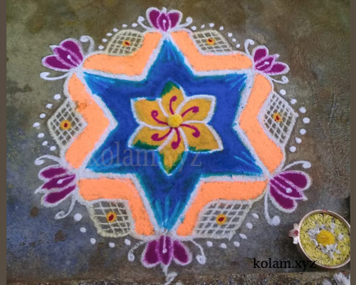 simple kolam designs without dots