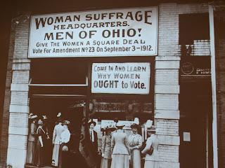 Suffragette sign