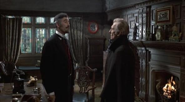 Christopher Lee y Peter Cushing