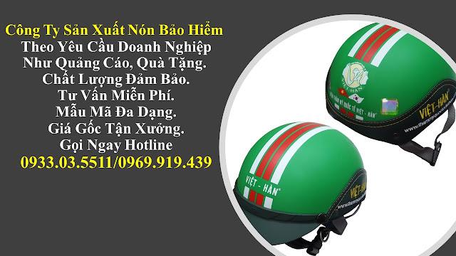 6. Sản xuất mũ bảo hiểm nửa đàu, nón bảo hiểm quà tặng, mũ bảo hiểm giá rẻ, nón bảo hiểm quảng cáo tại Bình Phước