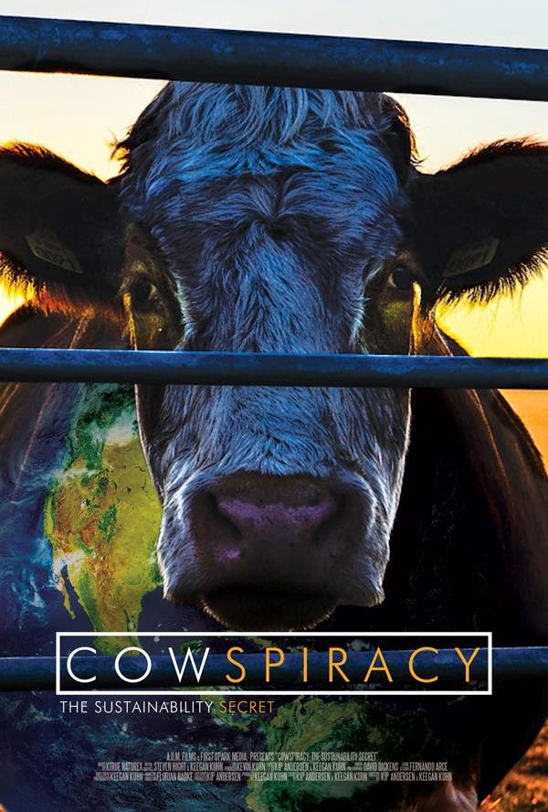"""Cowspiracy"" - Cow looking through bars, movies that inspire"