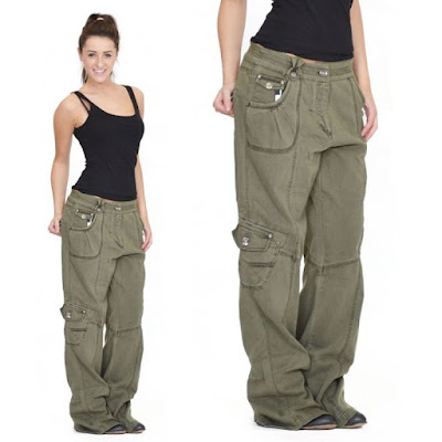 girl's satiny cargo pants