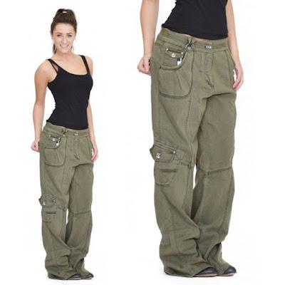 girl's satiny cargo pants