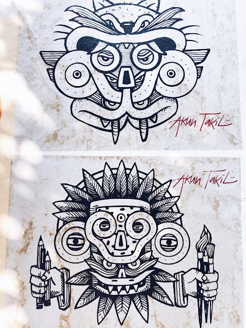 Akun Takil street art Oaxaca City
