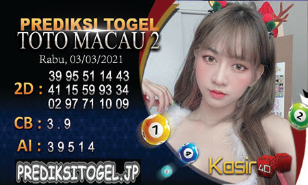 Prediksi Kasir4D Togel Macau Rabu 03 Maret 2021