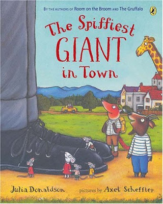 The Spiffiest Giant In Town, part of Julia Donaldon book review list with crafts, activities and other resources