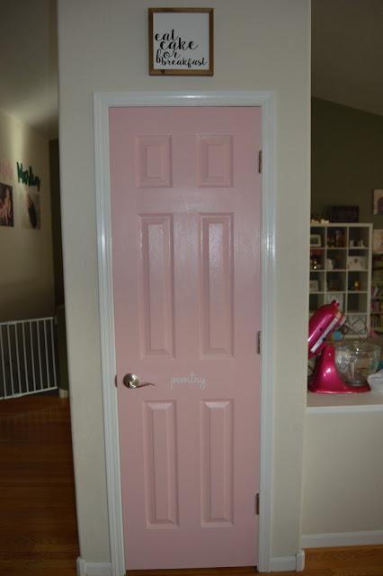 pink pantry door
