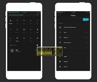 Download Tema Glow in The Dark Mtz For Xiaomi MIUI