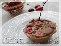 Mini-clafoutis aux cerises et à la farine de châtaigne