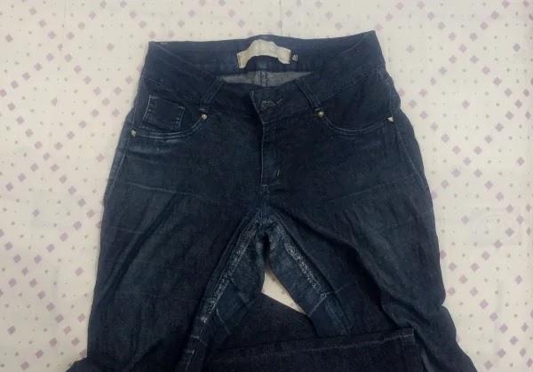 calça jeans surrada