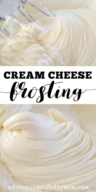 cream cheese frosting collage