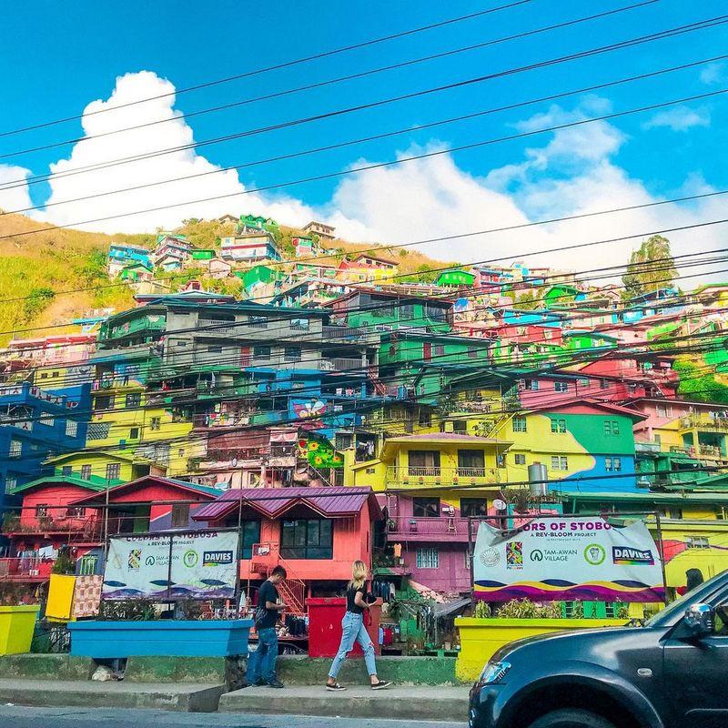 StoBoSa Hillside Homes Artwork, Baguio Colored Houses, Colors of StoBoSa