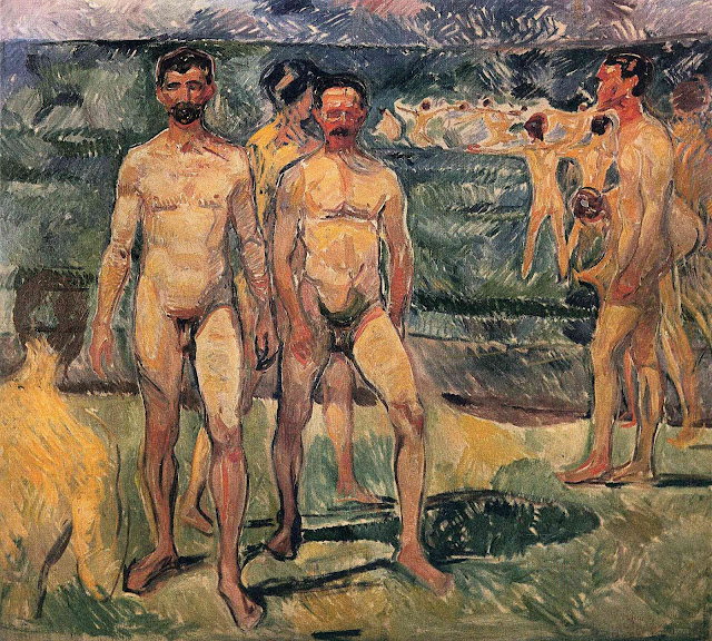 Эдвард Мунк - Купающиеся мужчины. 1907