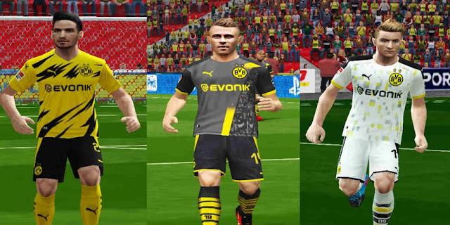 Pes 6 Borussia Dortmund 2020 21 Home Away Third Kits Kazemario Evolution