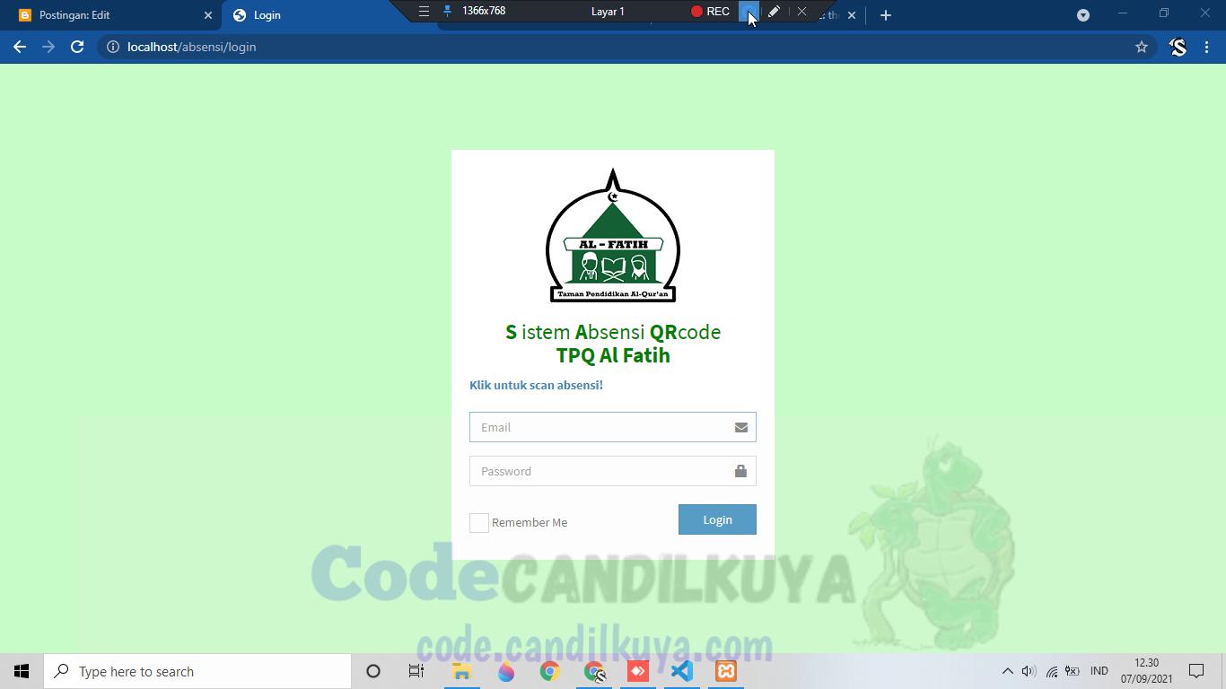 Absensi Online Dengan QR Code