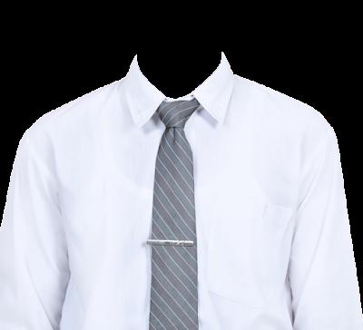 Contoh template kemeja putih dasi abu-abu