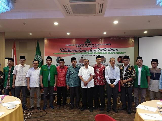 Pemuda Ansor Nusa Tenggara Barat (PW GP Ansor NTB) gelar Silaturrahmi dan Talk Show