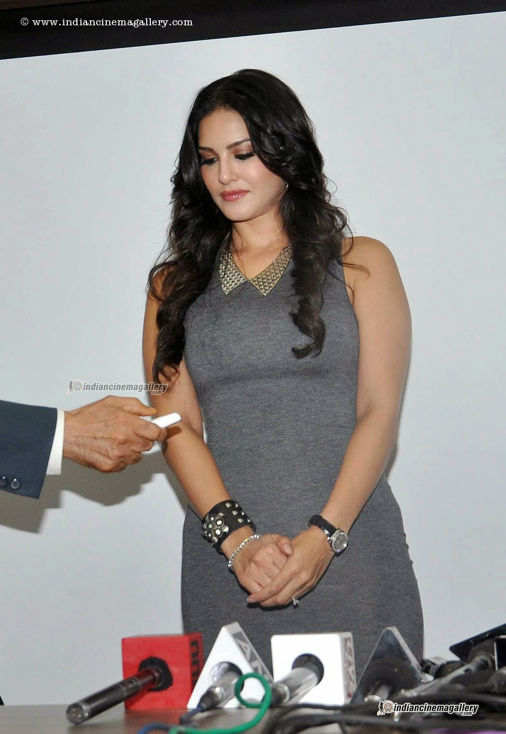 Sunny Leone Hot Tight Dress Sexy Body Figure  Hot Celebs-5284