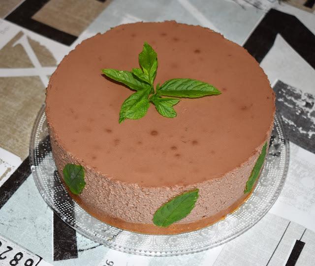 Tarta Mousse De Chocolate Y Hierbabuena