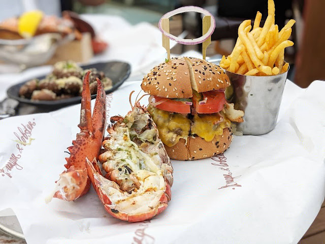 Burger & Lobster at Jewel Changi Airport - Original Combo, delicious lobsters!