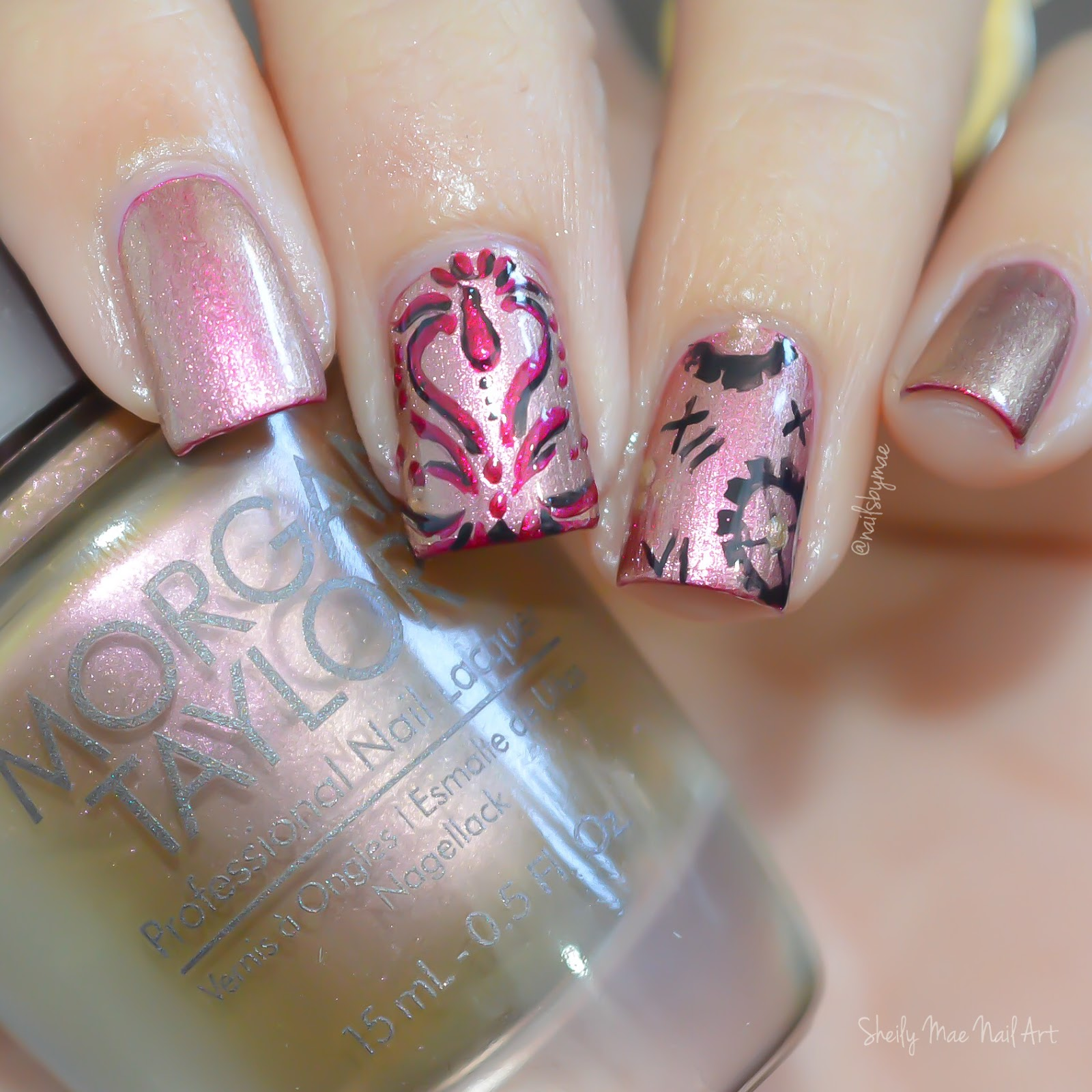 Beauty And The Beast Inspired Nail Art Sheily Mae Nail Art