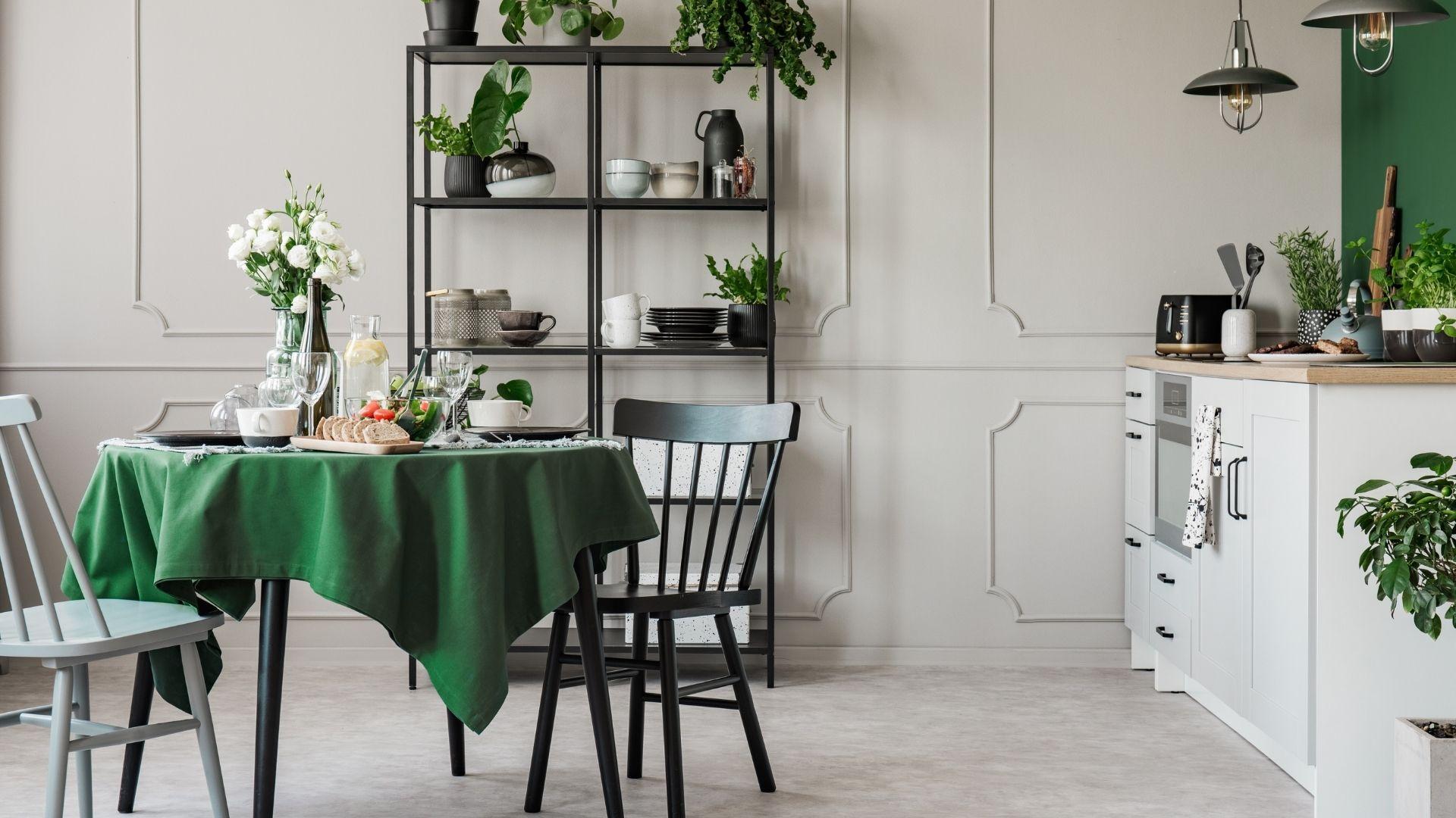 dodatki do kuchni w kolorze zielonym