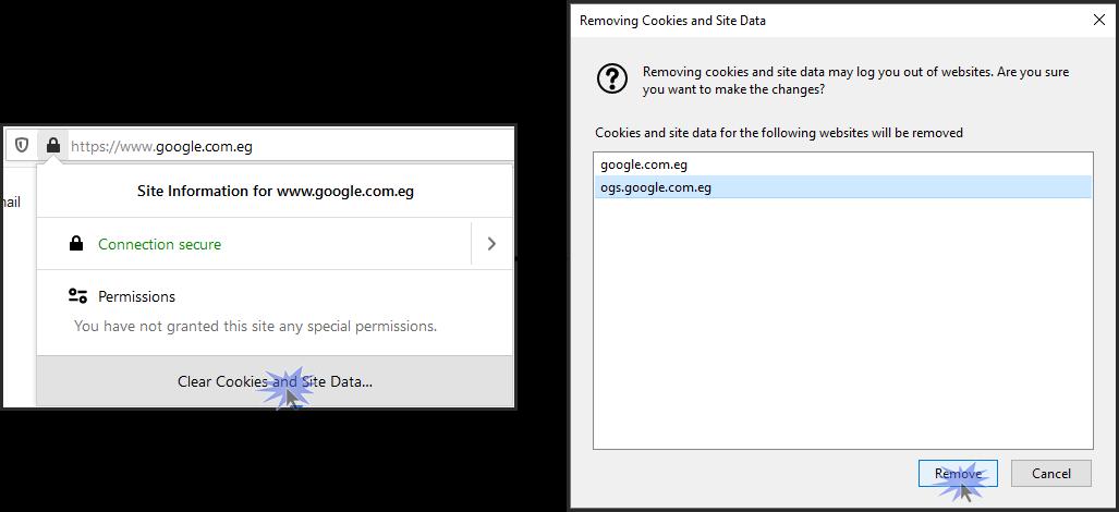 طريقة حذف الكاش أو الكوكيز لموقع انترنت محدد فى المتصفح فايرفوكس
