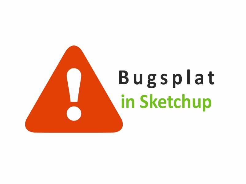 Cara Mengatasi Bugsplat Sketchup