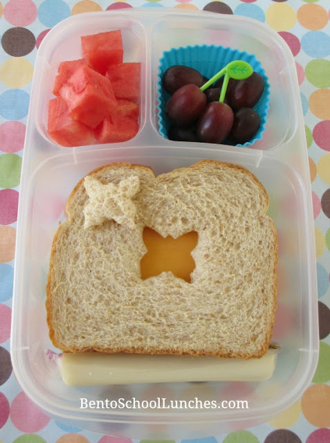 Butterfly cut-out simple bento lunch