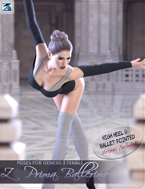 Z Prima Ballerina - Poses for Genesis 3 Female
